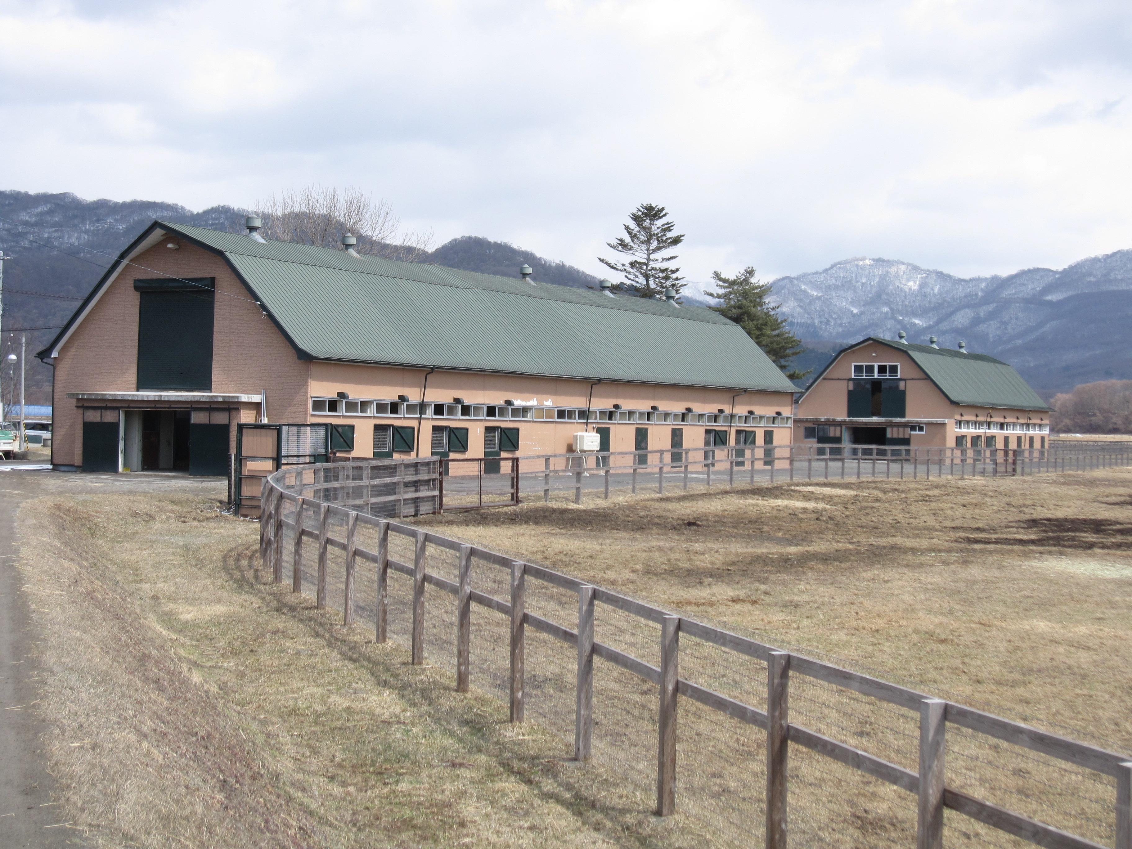 静内生産牧場の風景 | チャンピ...